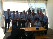 taken on the third floor terrace of one of the buildings of the regatta venue when some of the Jury Members were having beer at the end of the day